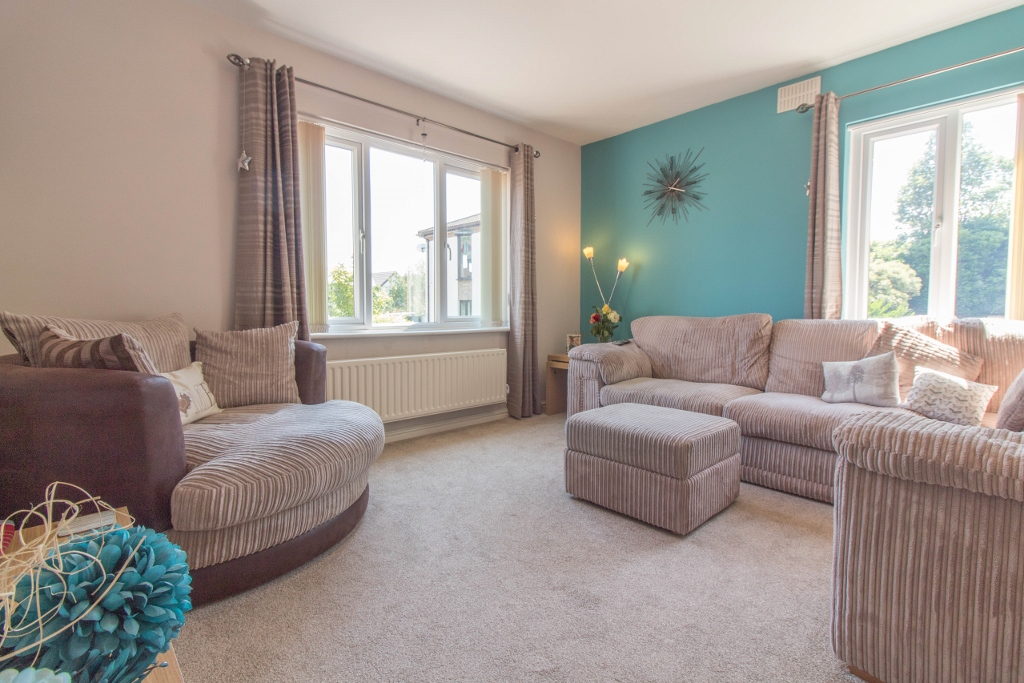 Immaculate two bedroom ground floor apartment within desirable residential location which benefits from upvc double glazed windows re fitted kitchen plus